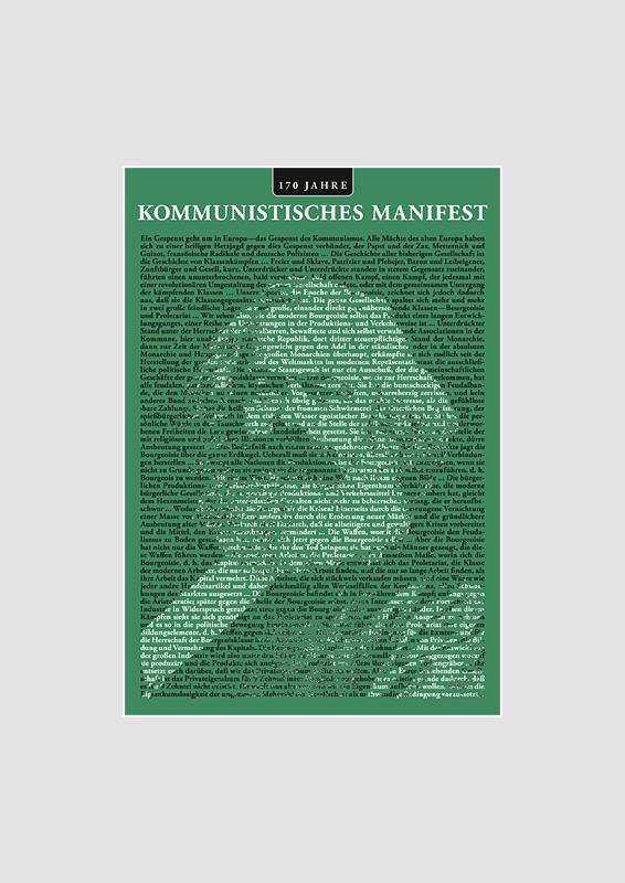 Kommunistisches Manifest Postkarte