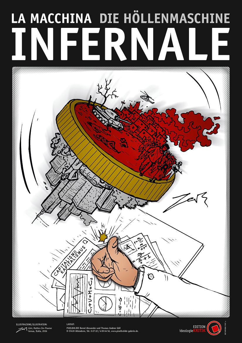 Matteo ZEV pavese und PiXELBOLIDE: La Macchina Infernale/Die Höllebnmaschine, Coloriert