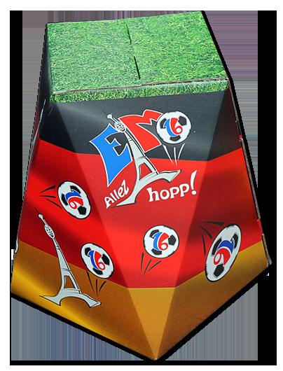 Hocker aus Wellpappe im italienischen Design